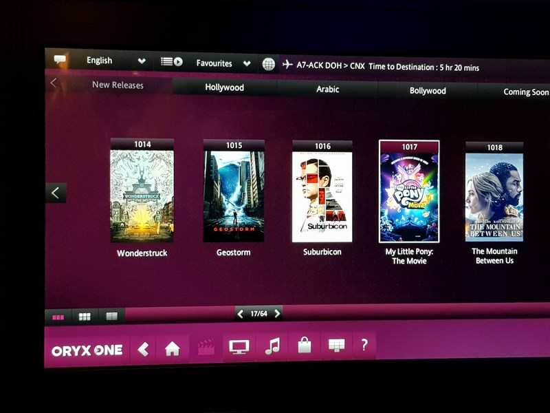 Entertainment System Qatar Airways