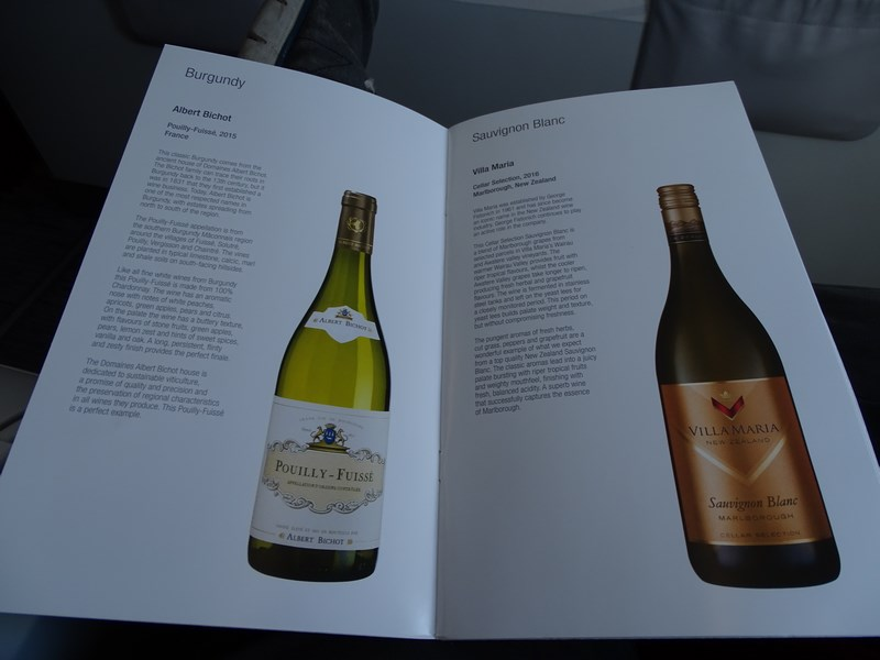 Wine Menu Qatar Airways