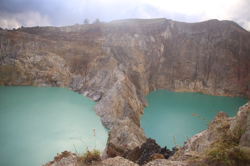 Two Lakes Of Kelimutu
