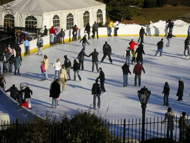 Patinoar In Central Park