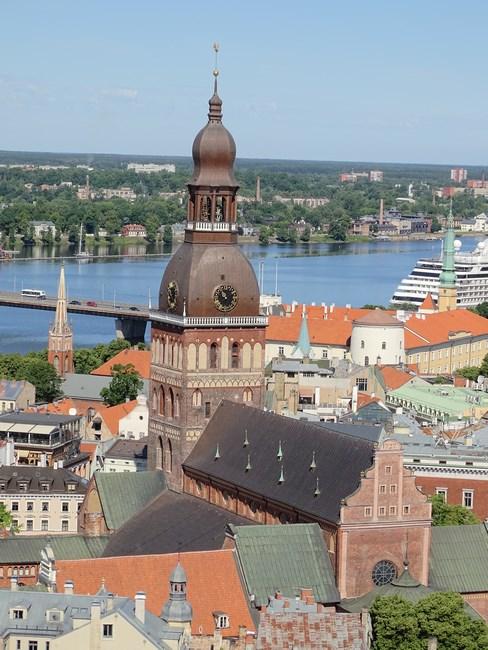 Panorama centrul vechi Riga