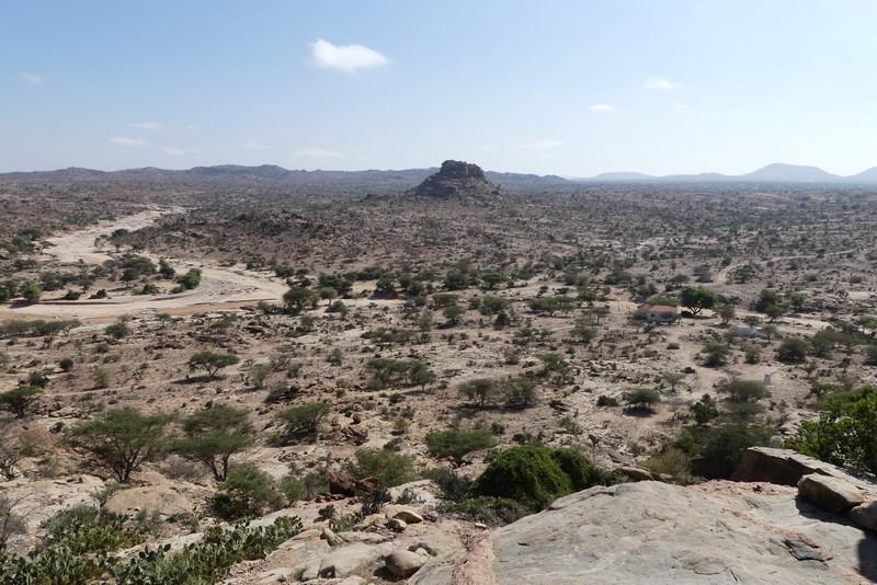 Las Geel panorama