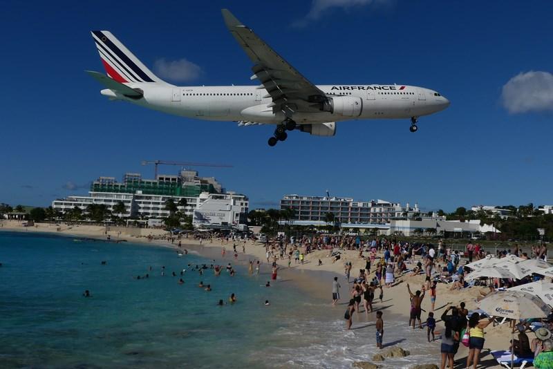 Air France Maho Beach St. Martin
