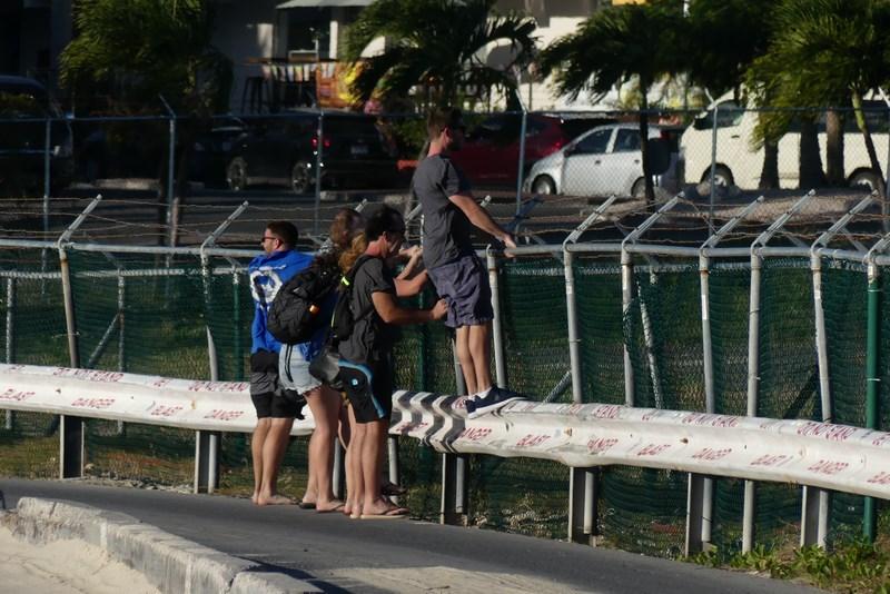 Pe gard in St. Maarten