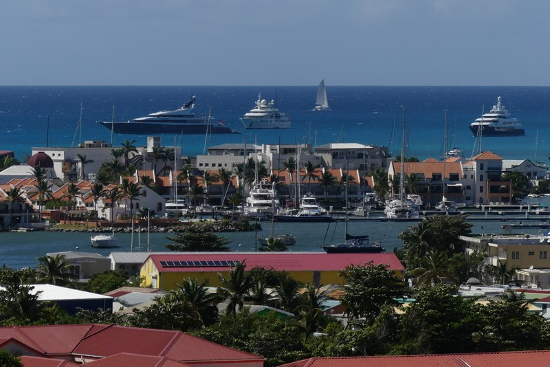Simpson Bay. St. Maarten