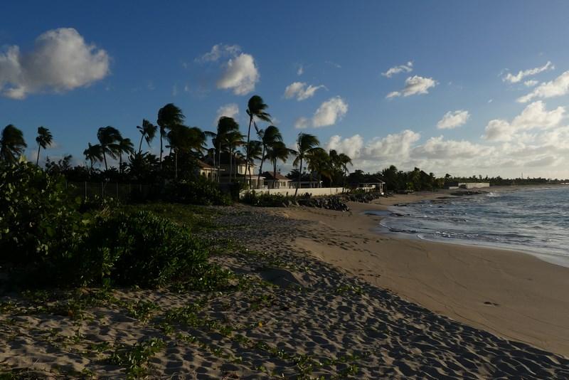 Empty beach St. Maarten