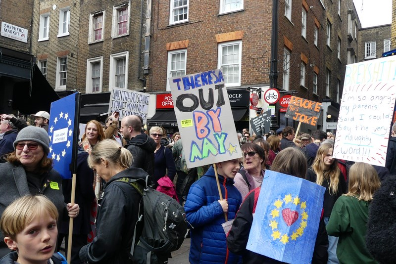Demonstratie anti Brexit