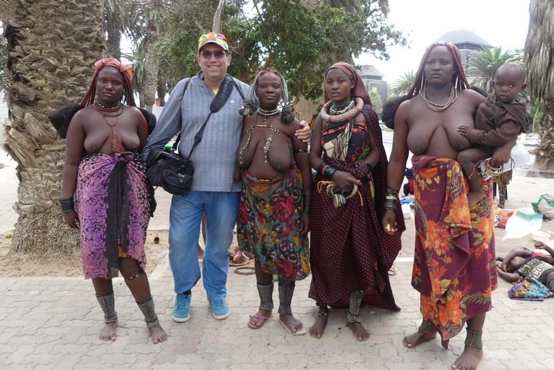 Femei Himba in Swakopmund