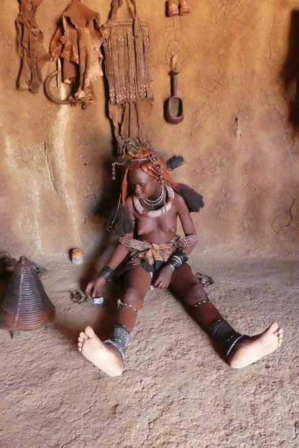 Himba laying