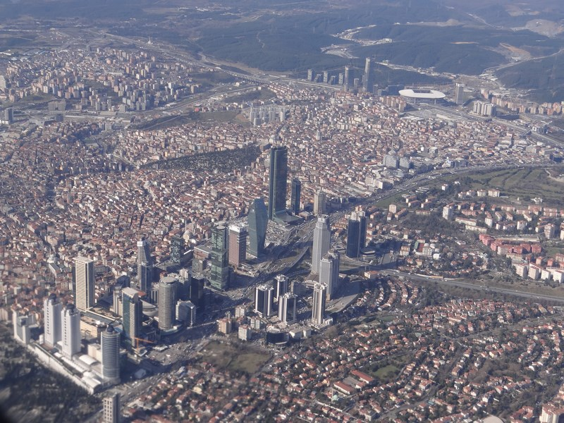 Istanbul din avion