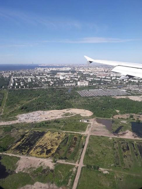 St. Petersburg din avion