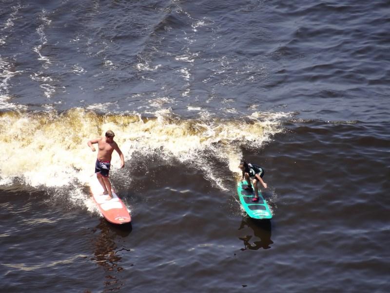 Surfing Lima