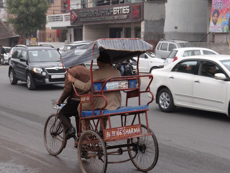 . Bicicleta ricsa India