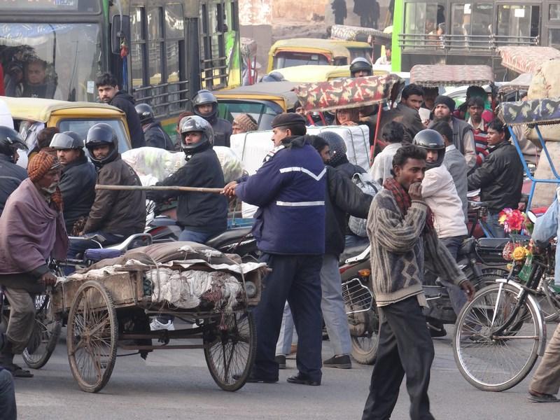 Politia trafic Delhi India