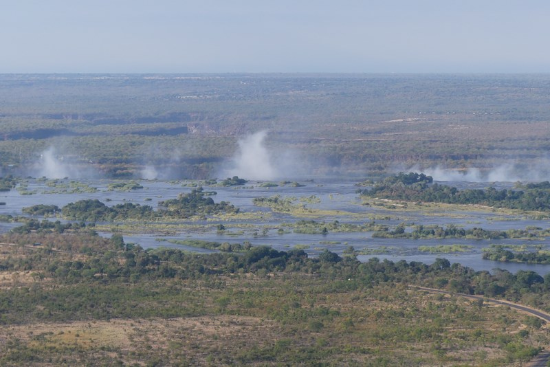 Victoria Falls din elicopter