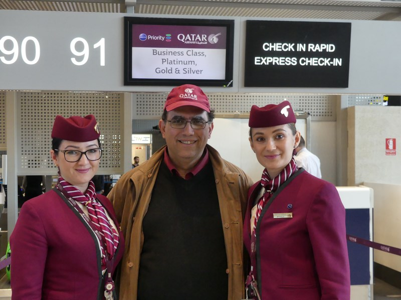 Stewardeze Qatar Airways