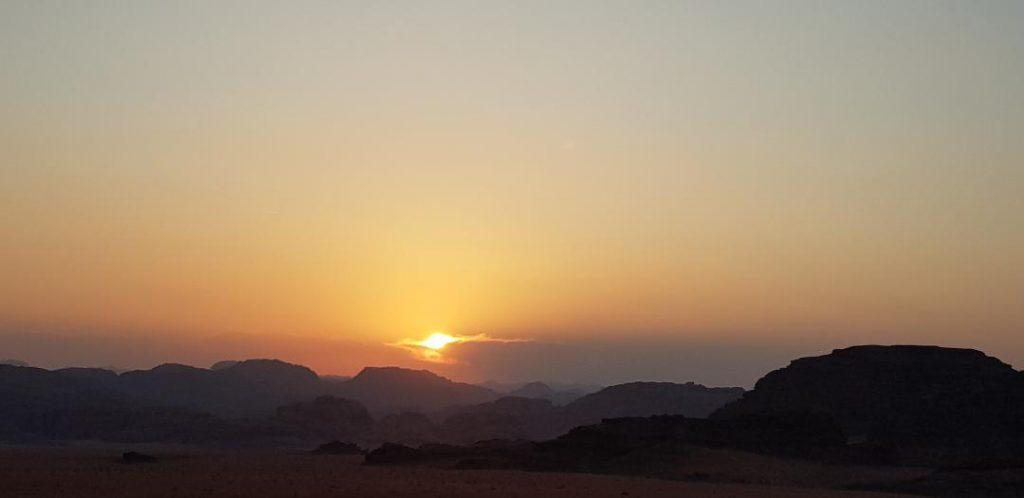 Apus de soare Wadi Rum