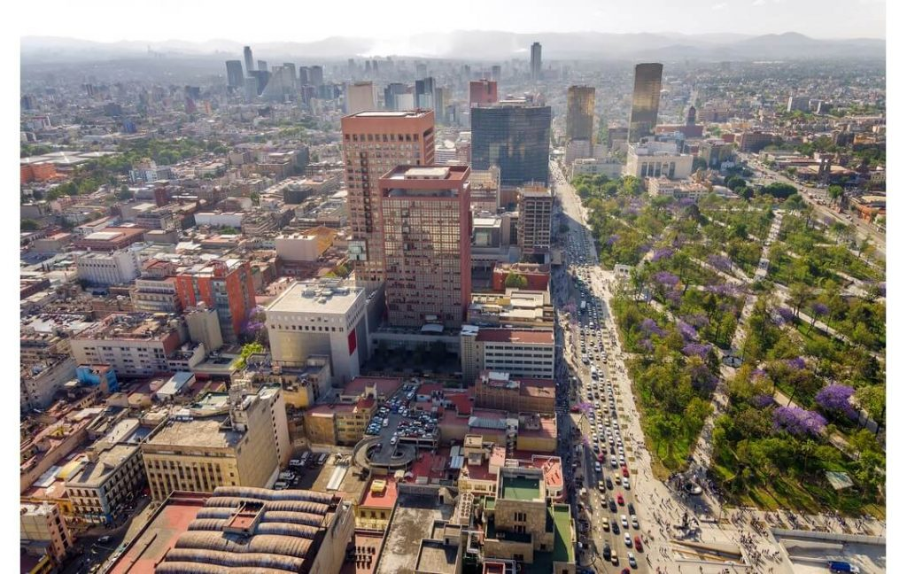 Mexico City vazut de sus calatorii de grup Mexic