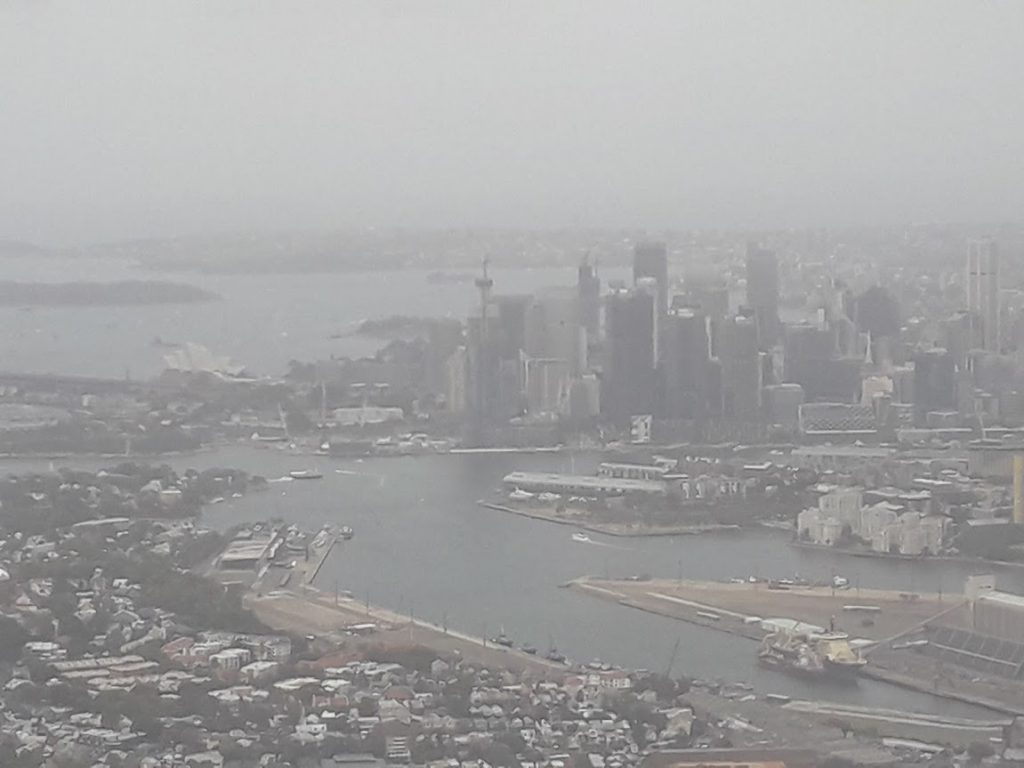 Sydney fum de la incendii