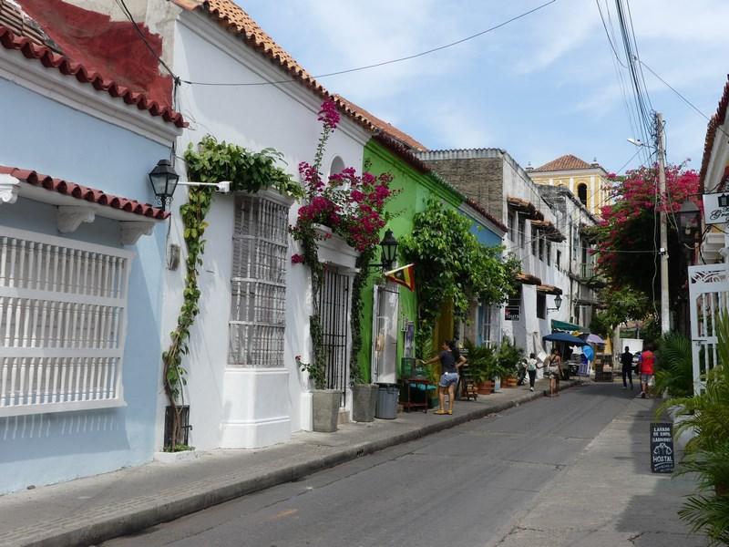 Cladiri colorate Cartagena