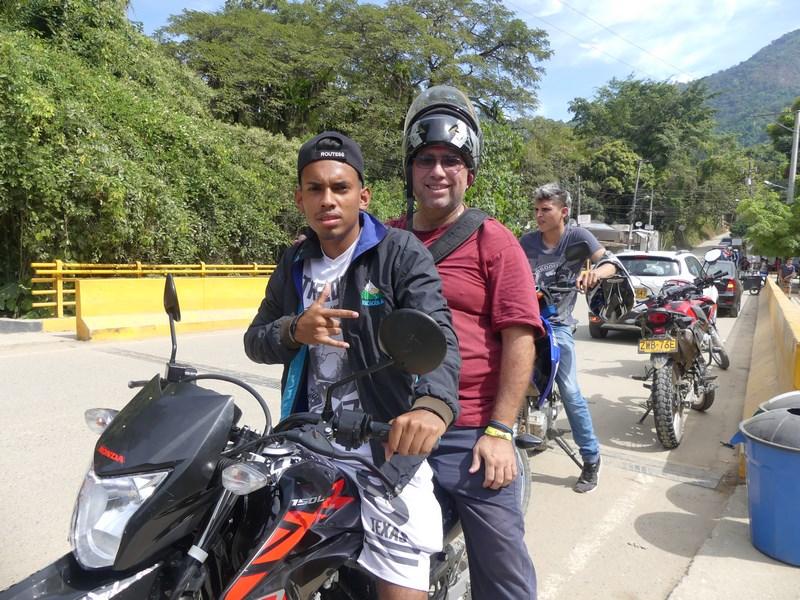 Moto taxi Minca