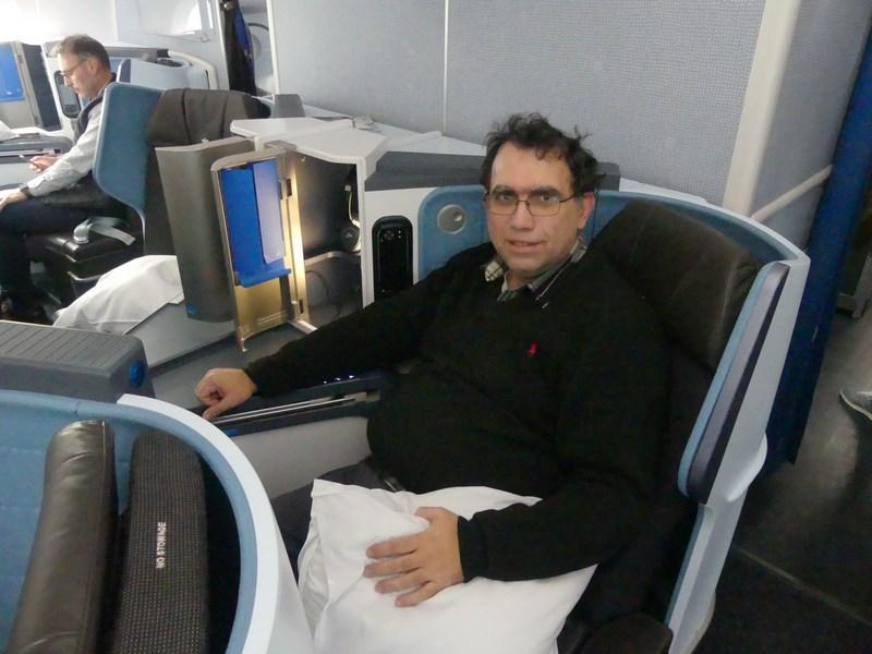 Business class KLM scaun