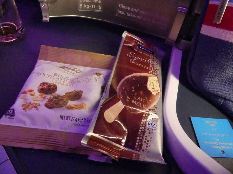Inghetata KLM Business class