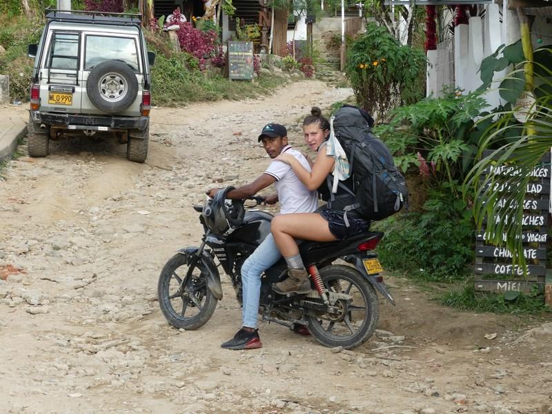 Moto taxi in Minca