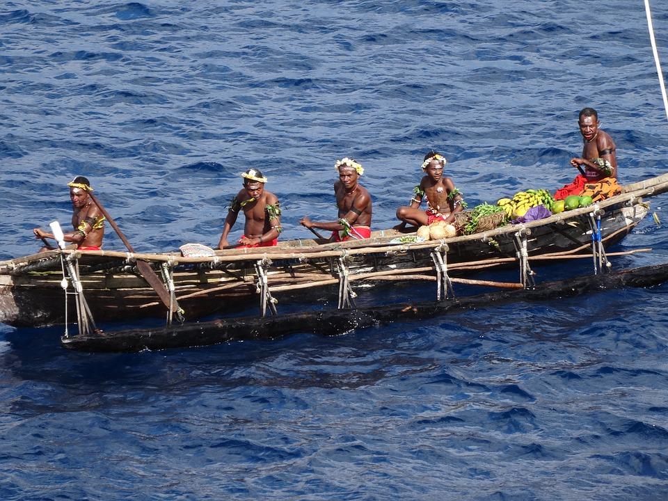 Canoe in Papua