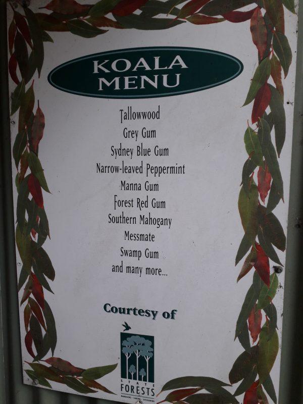 Koala menu