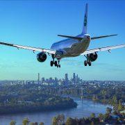 Avion in aterizare