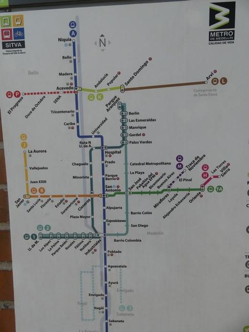 Harta Metrou Medellin