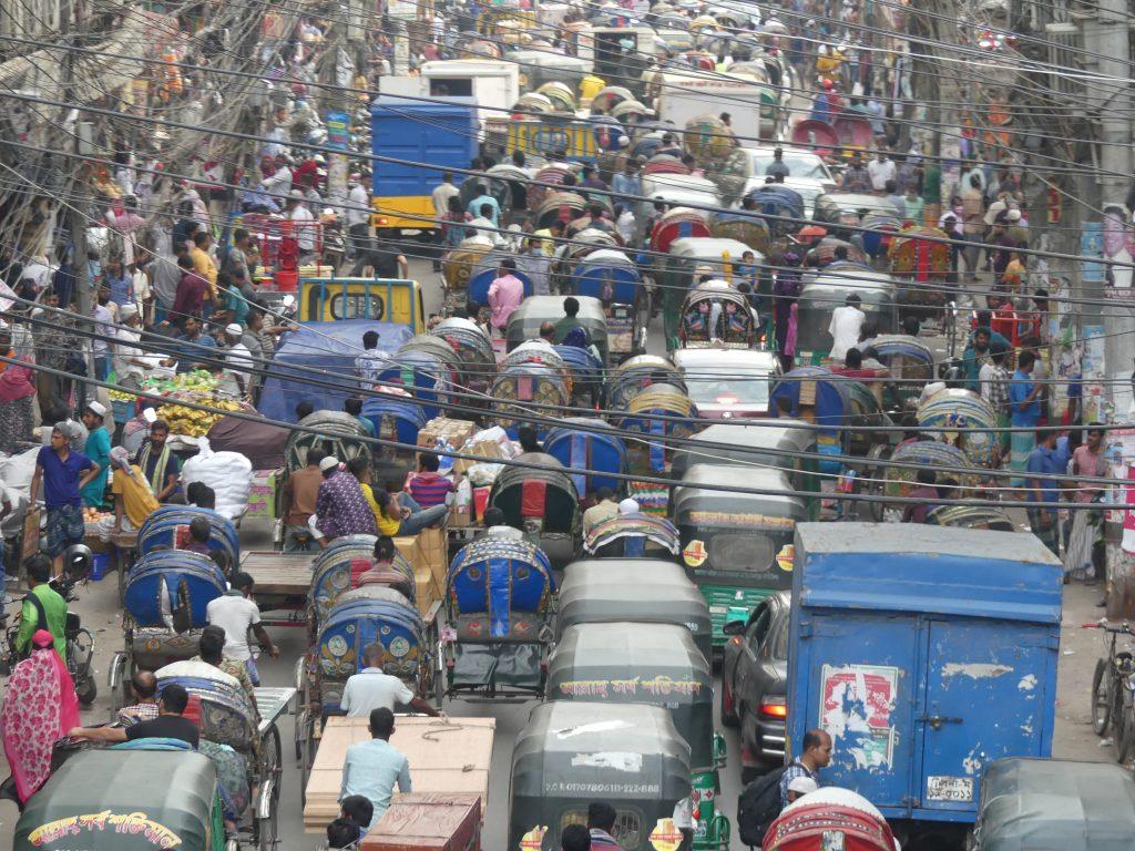 Traffic jam Dhaka Bangladesh