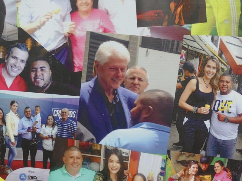 Bill Clinton in Medellin