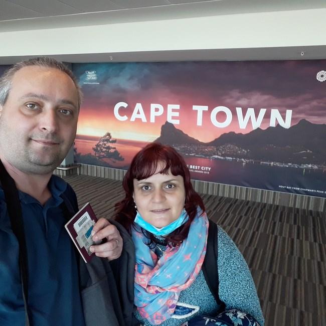 Sosirea la Cape Town