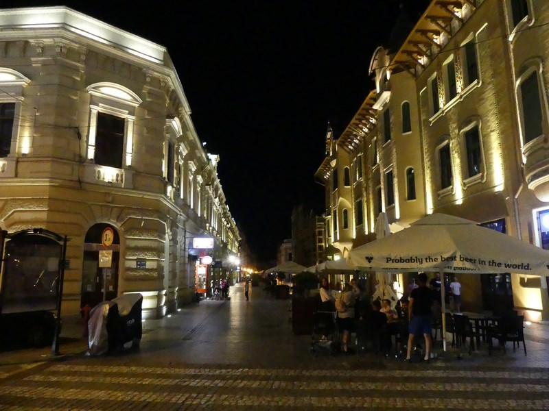 Strada Republicii noaptea