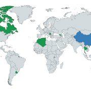 Harta lumii zona verzi actualizare iulie