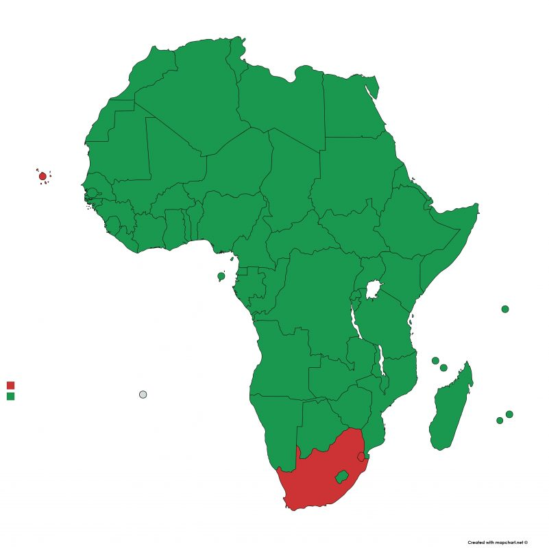 Lista verde Africa