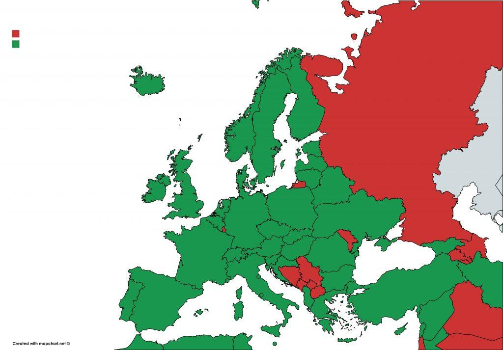 Lista verde Europa