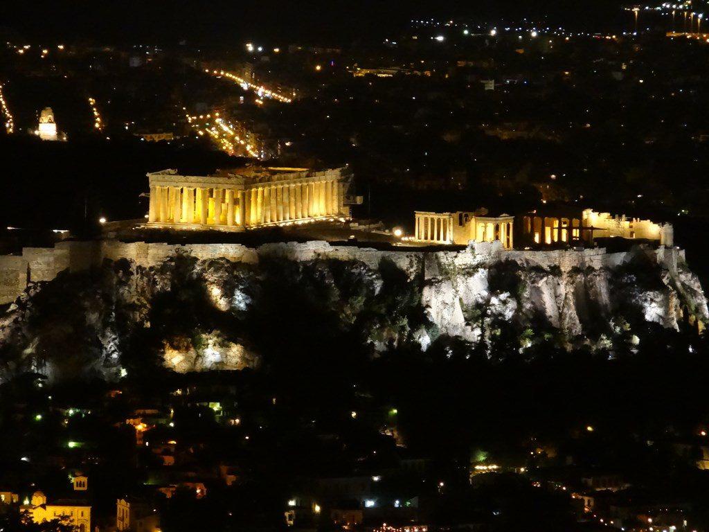 Acropole noaptea
