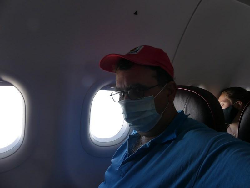 Masca in avion