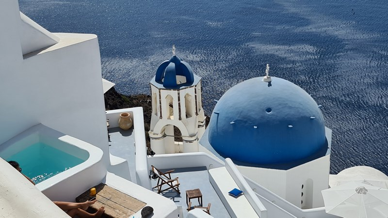 Cupole albastre Santorini