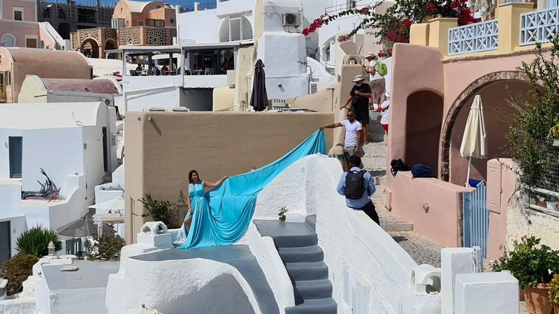 Photo shoot Santorini