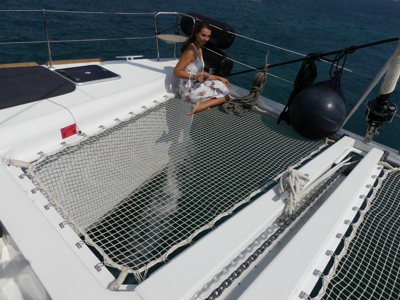 Hamac pe catamaran