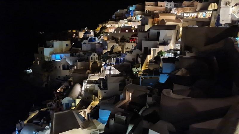 Oia Santorini noaptea
