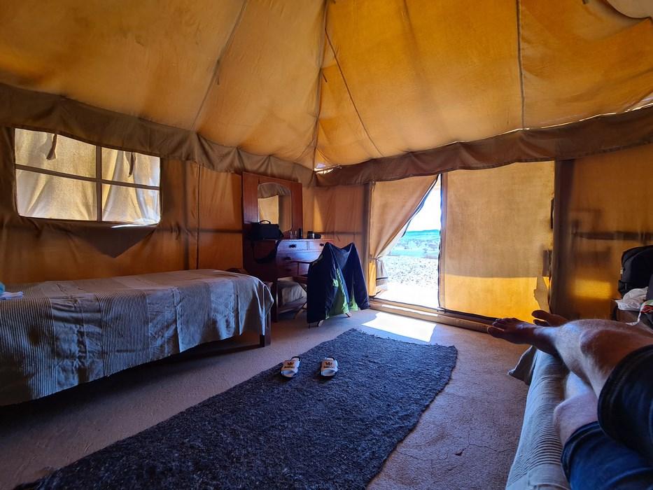 Meroe camp interior
