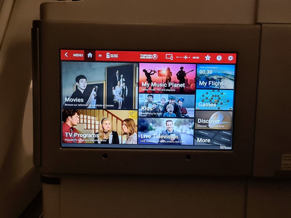 Entertainment System Turkish Airlines