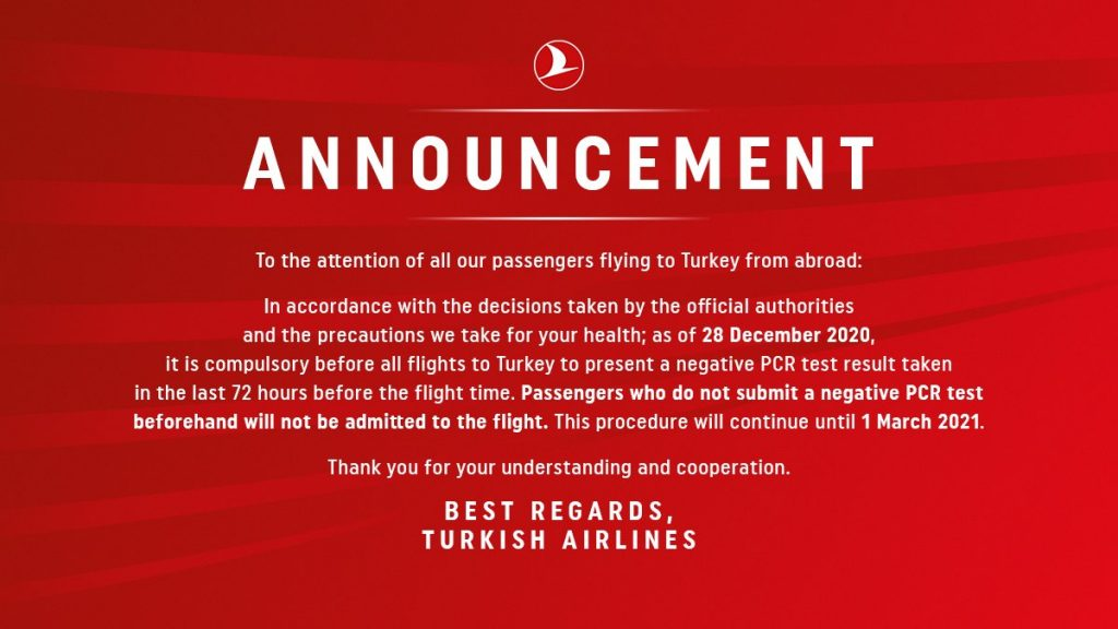 Anunt Turkish Airlines