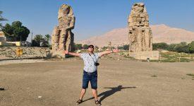 Colosii lui Memnon Luxor Egipt