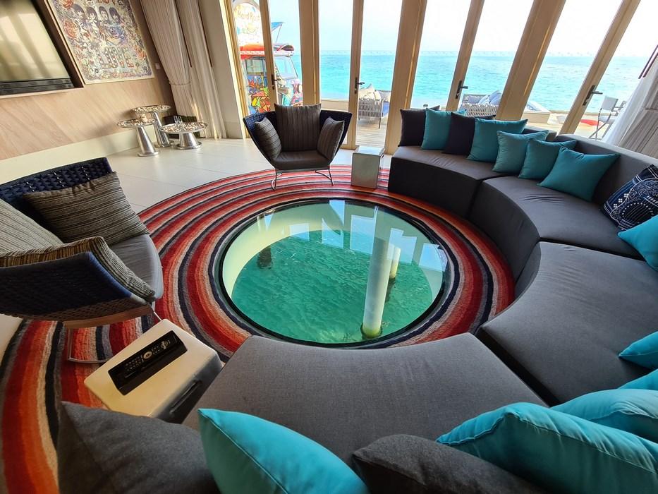 Rock Star Suite Hard Rock Hotel Maldives living